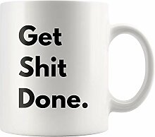 Lsjuee Kaffeetasse Get Shit Done Geschenkideen