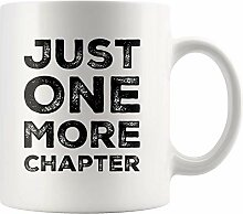 Lsjuee Kaffeetasse Nur noch ein Kapitel Buch