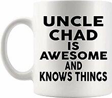 Lsjuee Onkel Geschenk - Onkel CHAD 11Oz Cup Becher