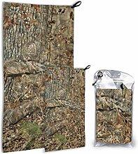 Lsjuee Outdoor Mikrofaser Handtuch Set 2er Pack,