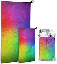 Lsjuee Regenbogenfarbenes Reisetuch-Set -