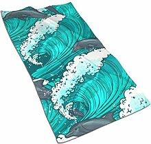 Lsjuee Sea Waves DolphinKitchen