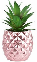 LSKYTOP Künstliche Ananas-Sukkulenten, getopft