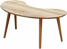 LSLMCS SHOPS Snack Tisch Oval Couchtisch,
