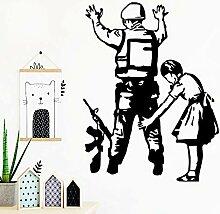 LSMYE Aufkleber Mädchen und Soldat Aufkleber