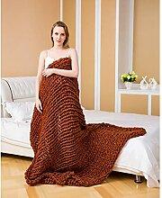 LSQ Nordic Decke Werfen Dicke Wolle Handgewebte