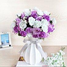 LSRHT Künstliche Blumen Chinesischen Stil Blumen Rose Dekoration Violett A