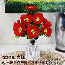 LSRHT Künstliche Blumen Grün Blumen Pflanzen Orchidee Schwarz Romantische Bouquet Ideal für Home Decor Zimmer Garten Party Hochzeit anzeigen