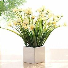 LSRHT Künstliche Blumen Keramik Vasen