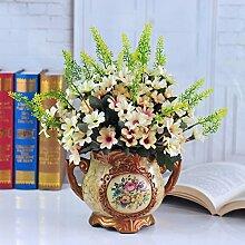 LSRHT Künstliche Blumen Kunststoff Rosa Grün Romantische Bouquet Ideal für Home Decor Zimmer Garten Party Hochzeit anzeigen