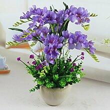 LSRHT Künstliche Blumen Orchideen Bonsai indoor