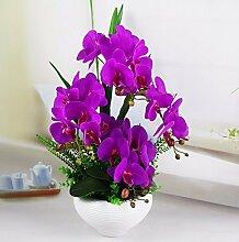 LSRHT Künstliche Blumen Orchideen Bonsai Keramik