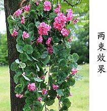 LSRHT Künstliche Blumen Silk Blume Wandverkleidungen Rattan Rebstock Begonie Blüte Rosa Romantische Bouquet Ideal für Home Decor Zimmer Garten Party Hochzeit anzeigen
