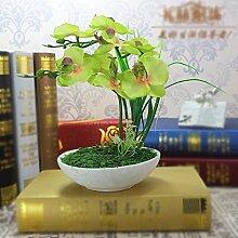 LSRHT Künstliche Blumen Silk Blumen Orchideen Pflanzen grün Romantische Bouquet Ideal für Home Decor Zimmer Garten Party Hochzeit anzeigen