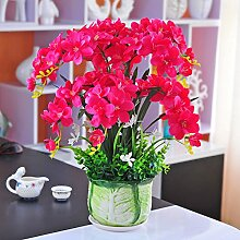 LSRHT Künstliche Blumen Topfpflanzen Orchideen