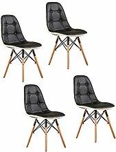 LSRRYD 4 Stück Retro Stuhl Esszimmer Hoch