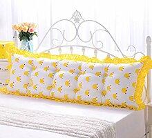 LSS Baumwolle Korean Version Bett Große Kissen Oversized Paar Lendenwirbelsäule Doppelkissen Kissen Nachttisch Rückenlehne Rückenlehne Soft Case Sonderangebot ( Farbe : #4 , größe : 110*45*10CM )