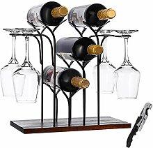 LTBLBY Weinregal für 6 Flaschen oder 4 Flaschen