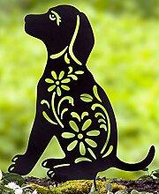 LTD. Gartenstecker mit Tier-Silhouette aus Metall,