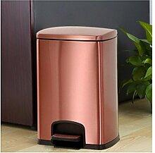 lter Mülltrennsystem mit Inneneimer Treteimer Edelstahl Edelstahl, leise, große Kapazität, für Küchenhotel , 20l rose gold