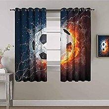 LTHCELE Blickdicht Vorhang für Schlafzimmer -