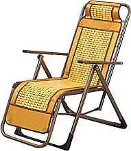 LTHDD Stühle, Balkon-Liegestühle, Bambus-Matte,