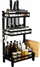 LTJTVFXQ-shelf Küchenregal aus Edelstahl,