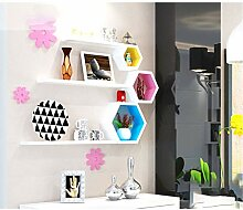 LTJTVFXQ-shelf Wand kreative Gitter Wandbehang