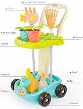 LTLCBB Gartenwagen, Gartengeräte Spielset mit
