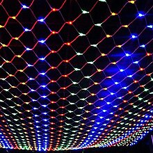 LTNT Lichternetz, 2mx2 m,led-la mpe,christ mas day dekoration,vorhang licht,garten-dekoration-Bunt 2m*2m(79x79inch)