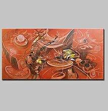 ltq & Qing (NEU)-handgemalt abstrakte Horizontal,