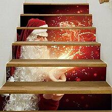 LTTSTD Treppe Aufkleber Anti-Rutsch Weihnachten