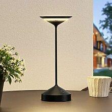 Lucande Raminum LED-Tischlampe für außen, schwarz
