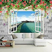 LucaSng 3D Fototapeten Vlies Wandbild - Fenster