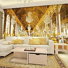 LucaSng 3D Fototapeten Vlies Wandbild - Golden