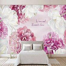 LucaSng 3D Fototapeten Vlies Wandbild - Rosa weiß