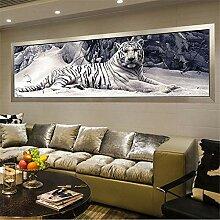 LucaSng 5D Diamant-Malerei Kit,Tiger DIY Paint