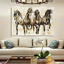 LucaSng Bild auf Leinwand Retro Pferd Wandbild,