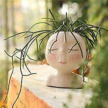 LucaSng Blumentopf mit Gesichtskopf, niedliches