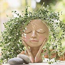 LucaSng Blumentopf mit Gesichtsmotiv, niedliches