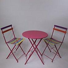 Lucht Gartentisch mit zwei Stühlen, Metall