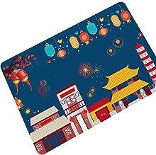 Lucky Store Weihnachts-Teppich, Gummi, saugfähig,