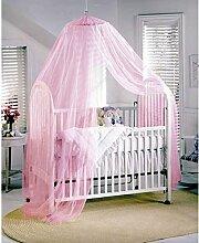 Lucky Will Baby Kinder Moskitonetz Insektenschutz Mückennetz Fliegennetz für Kinderbetten Himmelbett Rosa