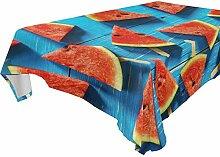 LUCKYEAH Holz-Tischdecke mit Obst, Wassermelonen,