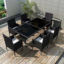 Luckyfu Dieses Set Gartentisch und Stühle aus