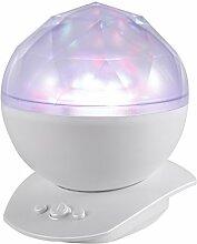 LUCKYKS Rotierende Projektor Romantische Nacht Lampe Dekorative Leuchten LED-Nachtlichter entspannende Stimmungslichter (weiß)