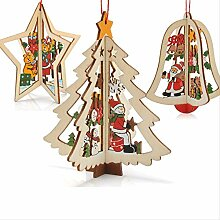 LUCKYYY Weihnachtsdekoration Kleiderbügel Holz