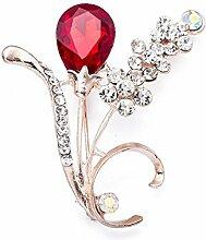 Ludage Hyazinthe Brosche Intarsien Diamond