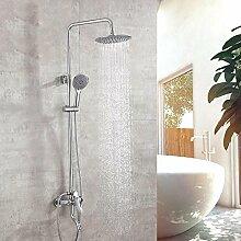Ludage Kupfer-Armatur Dusche mit Regen-Sprenger