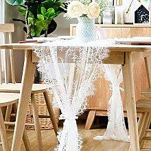 Ludage tischläufer Tischdekoration Weißen hohlen
